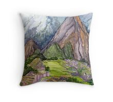 The Lost City of the Incas in Machu Picchu, Peru Throw Pillow