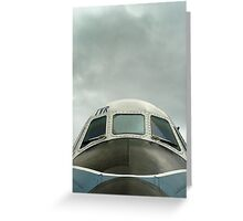 Old military plane Greeting Card