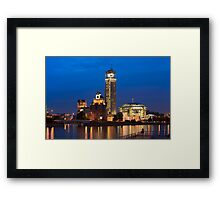 Moscow Riverside at Night Framed Print