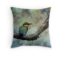 Rainbow bee-eater.  Throw Pillow