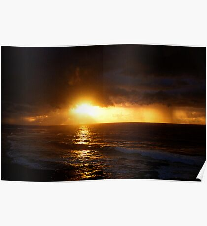 sunrise on a stormy morning three Poster