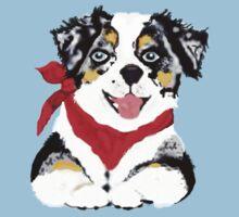 Blue Merle Aussie Pup Kids Clothes