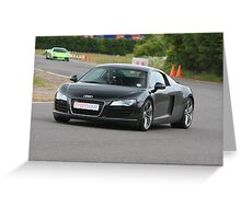 Driving the Audi R8 Greeting Card