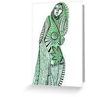 Sany.Waiting for a miracle.Portrait. Greeting Card
