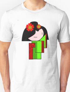 Lime Green Geisha Girl  T-Shirt