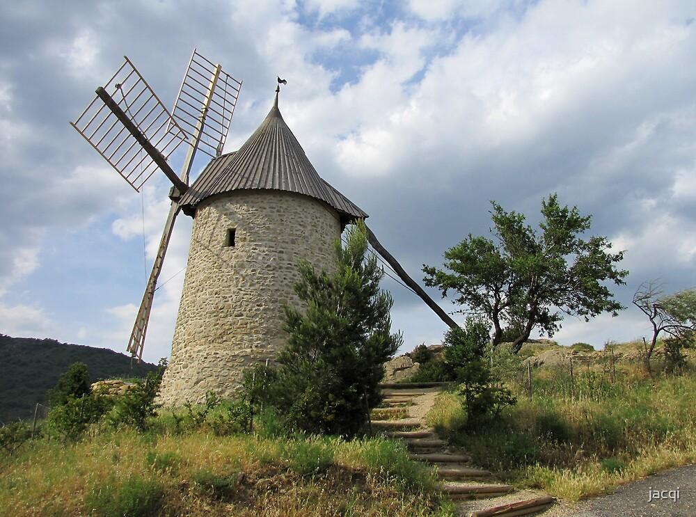 Old Windmill, Cucugnan, France by jacqi
