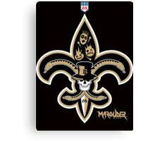 New Orleans Football Canvas Print