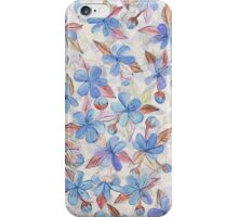 Purple Painted Floral Pattern iPhone Case/Skin