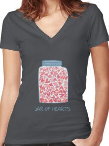 love jar Women's Fitted V-Neck T-Shirt