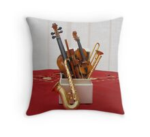 The Music Box Throw Pillow