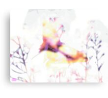 butterfly - white Canvas Print