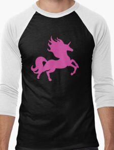 Visible Invisible Pink Unicorn Men's Baseball ¾ T-Shirt