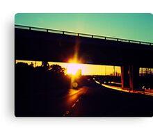 Sunshine Highway Canvas Print