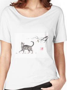 Play it cool sumi-e painting Women's Relaxed Fit T-Shirt