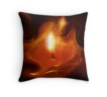 Flame of Knowledge Throw Pillow