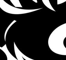 Awesome Crazy Face (Black) Sticker