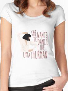 Uma Thurman Women's Fitted Scoop T-Shirt
