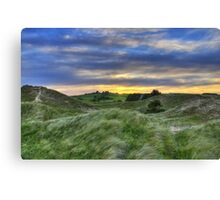 Sunset Over the Sand Dunes Canvas Print