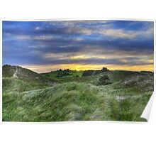 Sunset Over the Sand Dunes Poster
