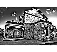 Colonial Justice (Monochrome) - Beechworth Courthouse , Victoria - The HDR Experience Photographic Print