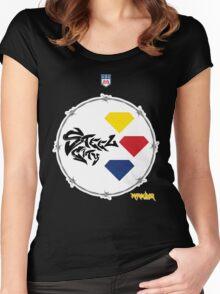 Pitt Steel City Football by Marauder Wear Women's Fitted Scoop T-Shirt