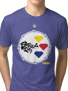 Pitt Steel City Football by Marauder Wear Tri-blend T-Shirt