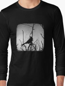 Wattlebird - Black Long Sleeve T-Shirt