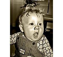 retro babyface Photographic Print