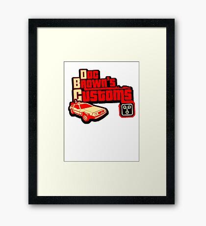 Doc Brown's Custom Framed Print