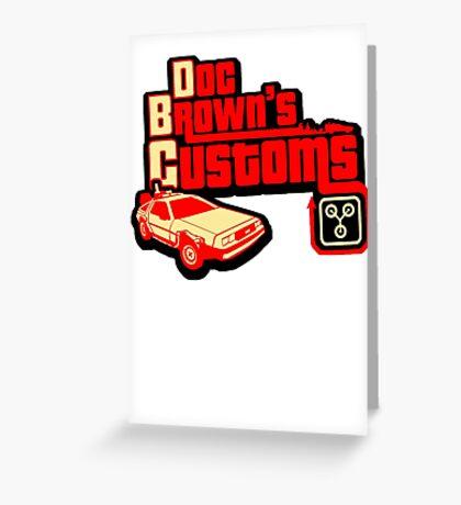 Doc Brown's Custom Greeting Card