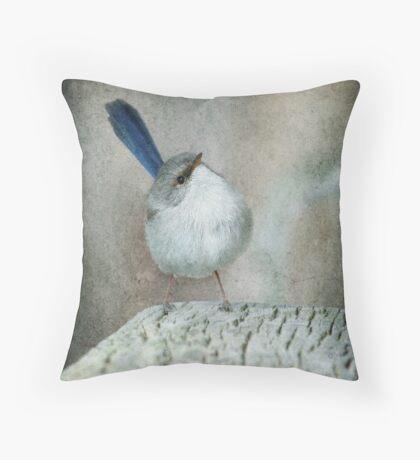 Superb Fairy Wren #2 Throw Pillow