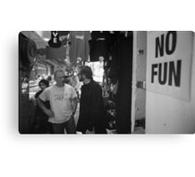 No Fun Zone Canvas Print