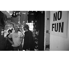 No Fun Zone Photographic Print