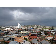 Bunbury rooftop rainbow Photographic Print
