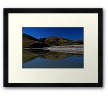 Opuha Reflections Framed Print