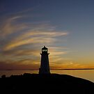 lighthouse in the night by dianegreenwood