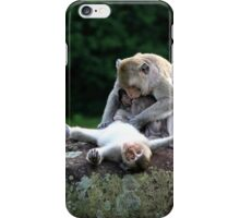 Monkeys of Angkor Wat II - Cambodia. iPhone Case/Skin