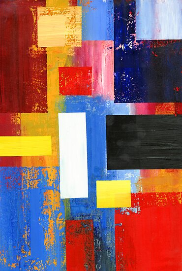 Abstract Squares #1 by Lisa V Robinson
