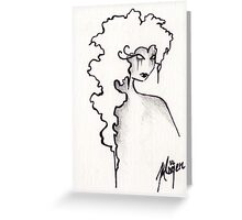 Albion- ACEO in Monochrome Greeting Card