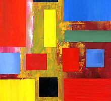 Abstract Squares #2 by Lisa V Robinson