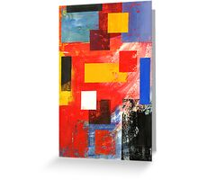 Abstract Squares #3 Greeting Card
