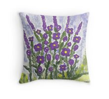 Painted Purple Throw Pillow