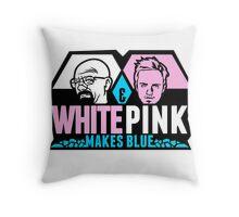 WhitePink Throw Pillow