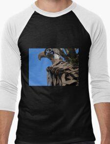 Eagle Guarding the city, National Arboretum, Canberra, Australia. Men's Baseball ¾ T-Shirt