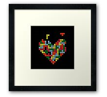 Tetris Heart Framed Print