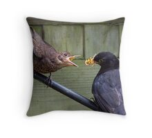 Wormie and Baby Throw Pillow