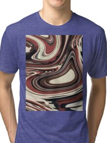 retro hipster fashion Yummy caramel chocolate swirl Tri-blend T-Shirt