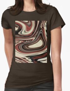 retro hipster fashion Yummy caramel chocolate swirl Womens Fitted T-Shirt