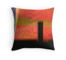 WET RED AND BLACK Throw Pillow
