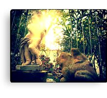 Putto & Toad Family Canvas Print
